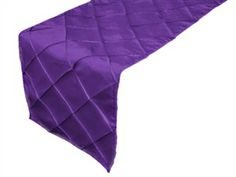 Taffeta Pintuck Table Runner - Purple [EF Buy Bulk Purple Table Runner] : Wholesale Wedding Supplies, Discount Wedding Favors, Party Favors, and Bulk Event Supplies Diy Wedding Supplies, Wedding Supplies Wholesale, Elegant Table Settings, Wedding Decorations, Table Decorations, Centerpieces, Wedding Table, Wedding Ideas