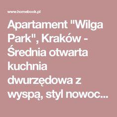 """Apartament """"Wilga Park"""", Kraków - Średnia otwarta kuchnia dwurzędowa z wyspą, styl nowoczesny - zdjęcie od ORANGESTUDIO"""