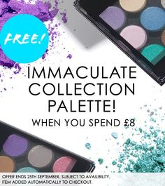How exciting! Free MUA Immaculate Collection when you spend £8 online www.muastore.co.uk and in selected Superdrug stores. STARTS TODAY!