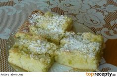 Hrnkový koláč s rebarborou Rhubarb Recipes, French Toast, Dairy, Cheese, Baking, Breakfast, Cake, Recipes For Rhubarb, Bread Making