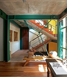 Home in Sao Paolo // Residential Architecture Interior Architecture, Interior And Exterior, Interior Design, Residential Architecture, Metal Beam, Steel Beams, Duplex, Steel Structure, Ceiling Beams