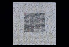 """Black and White and Read All Over, Paper and Encaustic on Panel, 12"""" x 12"""" x 1.5"""", 2007"""