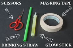 Cover Your Yard In DIY Glowing Masking Tape Mummy Hands