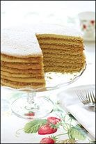 tennessee stack cake (oversized sugar cookies stacked with apple butter between the layers) My dad said they called it a fruit cake. We called it stack cake at home. Its goood! -