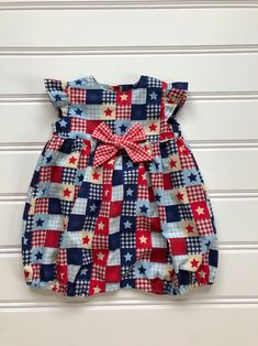3ff4eed91 4th of July Baby Girl Romper, Baby Romper, 4th of July Outfit, Toddler  Romper, Flutter Sleeve Dress, Kid Romper, Red White Blue Infant Dress