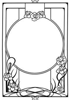 Nouveau frame by ~Tiger-tyger on deviantART