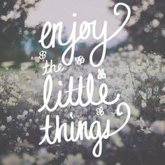 enjoy every little thing