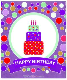 Happy Birthday Purple Card