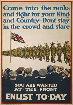 recruitment posters World War 1 - Google-søgning