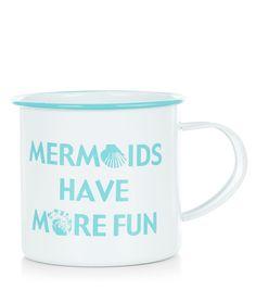 White Mermaids Have More Fun Tin Mug | New Look