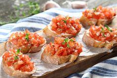 Bruschetta, Baked Potato, Potatoes, Dinner, Baking, Ethnic Recipes, Food, Gastronomia, Dining
