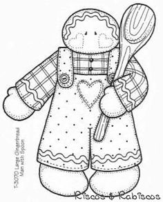 Riscos & Rabiscos - here are some pattern's for year round special day's if you need pattern idea's ( only 3 gingerbread pattern's ) Applique Patterns, Craft Patterns, Embroidery Applique, Cross Stitch Embroidery, Embroidery Designs, Christmas Colors, Christmas Crafts, Zentangle, Motifs D'appliques