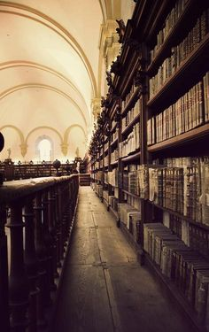 Ancient Library, Castille and Leon (Salamanca), Spain -looks like a great place to visit.
