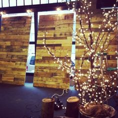 Pallet Wall Christmas Church Stage Design www.substance-church.org