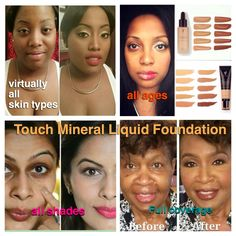 Younique Liquid Mineral Foundation For all shades of colour x Full coverage, spots, blemishes, dark circles, tattoos, scars....the list goes on