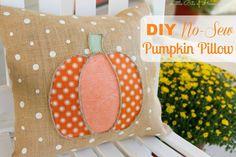 Little Bits of Home: DIY No-Sew Pumpkin Pillow