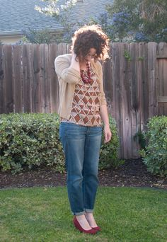 I love red shoes and this outfit was so comfy!  {my blog}