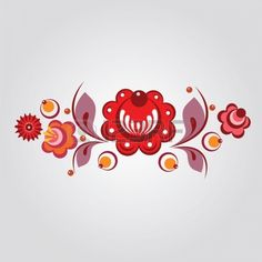 Gorodets russos flores de estilo e berryes photo