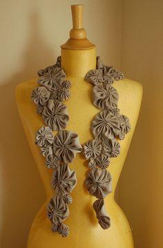 washable silk wip -- yo yo scarf by Marie the Bee, via Flickr