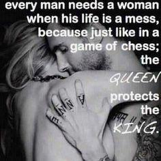 every man needs a woman...
