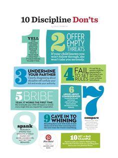 10 discipline DON'TS
