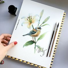 еще один:))) Watercolor. 20x25cm. 2/3 Акварель. 20х25см. 2/3 #watercolor #watercolour #illustration #art #ink #inspiration #drawing #painting #dailyart #dailysketch #artprint #artgallery #artoftheday #artlife #beautiful #акварель #иллюстрация #рисунок #графика #artstagram #artwork #artworks #kiev #ukraine #masterclass #artprint #birds #flowers #lily #artist #wallart