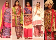 Designer Gaurang Shah's line was based on 'streedhan', representing the colours of Gujarat. (Photo: Varinder Chawla)