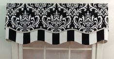 damask black and off white valance - Google Search