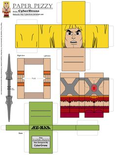 Paper Pezzy- He-Man 'Classic' by CyberDrone.deviantart.com on @DeviantArt