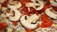 Mushroom Chicken Pizza