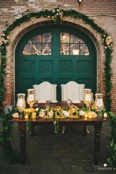 Candlelit bride & groom sweetheart table: http://www.stylemepretty.com/maryland-weddings/baltimore/2015/11/24/romantic-evergreen-museum-and-library-wedding/ | Photography: Readyluck - http://www.readyluck.com/