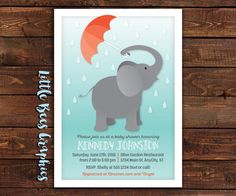 Elephant Sprinkle Printable Baby Shower or by LittleBeesGraphics
