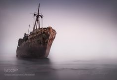 Ship wreck in Gythio Greece - Shipwreck Dimitrios in Gythio peleponese Herbal Doctor, Ghost Ship, Shipwreck, Great Shots, Aesthetic Art, Beautiful Landscapes, Sailing Ships, Cool Pictures, Greece