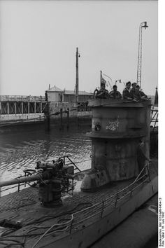 U-Boats ~ German submarine U-455 in Port ~ BFD