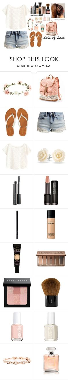 """Lots of Lace (read the d please!)"" by galaxy-traveler ❤ liked on Polyvore featuring Accessorize, Candie's, Aéropostale, even&odd, Bling Jewelry, MAC Cosmetics, NARS Cosmetics, Bare Escentuals, Too Faced Cosmetics and Urban Decay"