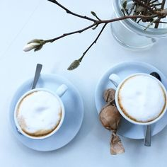 BESUCH Cappuccino mit @frlordnung  #cappuccino #selbstgebackene #weicheamarettini #amatettini #amarettinimorbidi #amaretti #amaretto #magnolienzweig #magnolia #lieberbesuch #istafriends #instatreffen #Vasenkonfetti #wohnkonfetti #solebich  #flowerpowerfebruar