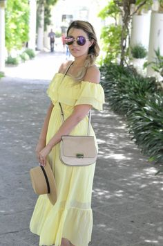 Yellow Off the Shoulder Dress, Zara Bag, Boater Hat, Sorrento, Italy, Bellevue Syrene, Blonde, Braid
