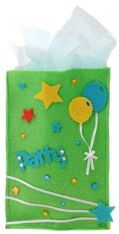Felt Party Favor Bag - same size as paper lunch bag