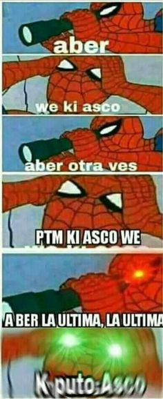 Pta ki asco :'v Funny Spanish Memes, Spanish Humor, Avengers Memes, Marvel Memes, Best Memes, Dankest Memes, Mundo Meme, Funny Images, Funny Pictures