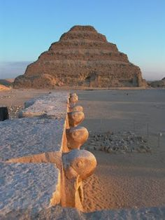 ✮ The step Pyramid of Saqqara, Egypt - Djoser's pyramid and its surrounding mortuary complex is recognized as the first stone building in the world.