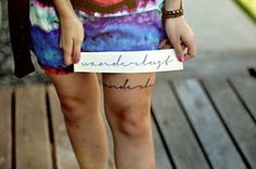 """Wanderlust"" ; wan·der·lust/ˈwändərˌləst/Noun: A strong desire to travel and wander. ""A woman consumed by wanderlust""."