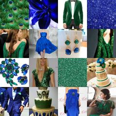 Wedding Colors:Emerald and Sapphire