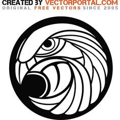 Vector graphics of an eagle's head