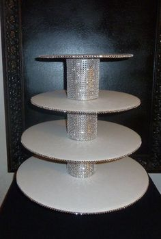 4 tier bling faux rhinestone cupcake stand by aprincesspractically, $60.00