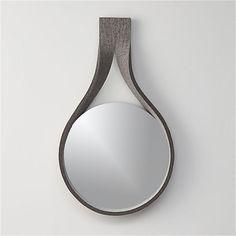 felt drop mirror  | CB2