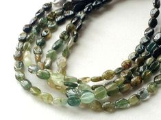 Green Tourmaline Oval Plain Beads Green by gemsforjewels on Etsy