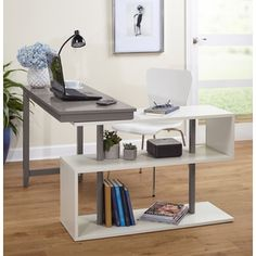 Shop for Simple Living Webster White/Grey Wood Swing Desk. Get free shipping at Overstock.com - Your Online Furniture Outlet Store! Get 5% in rewards with Club O!