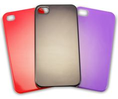 Excellent quality hardback case cover for your iPhone 4 or 4s in either black, red or purple colours. #Craft #PhoneCase
