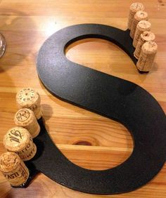 Wine cork letters- totally doing this!