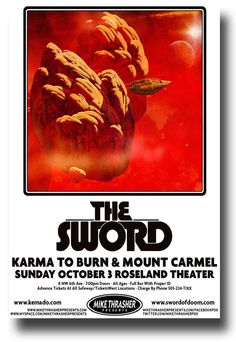 The Sword Poster Band Metal $9.84 Concert Warp Riders Tour